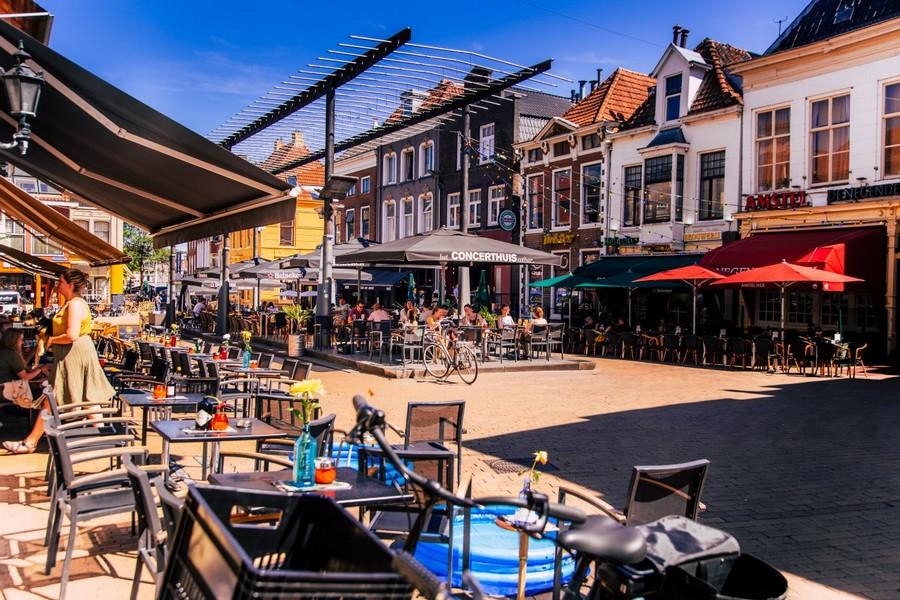 Terrassen in Groningen